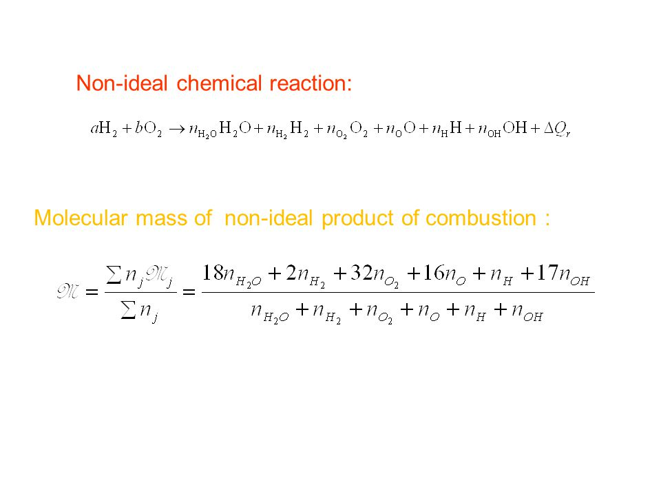 Non-ideal chemical reaction:
