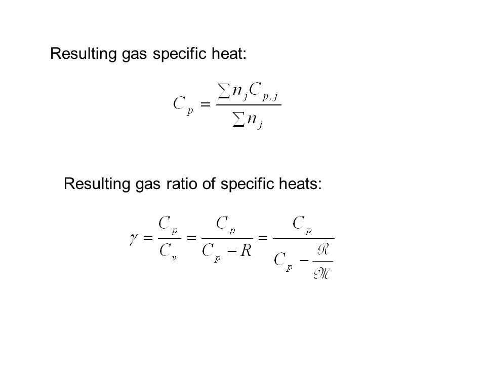 Resulting gas specific heat: