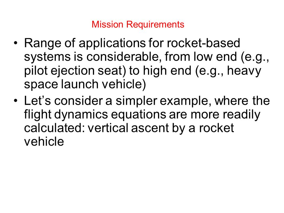 Mission Requirements