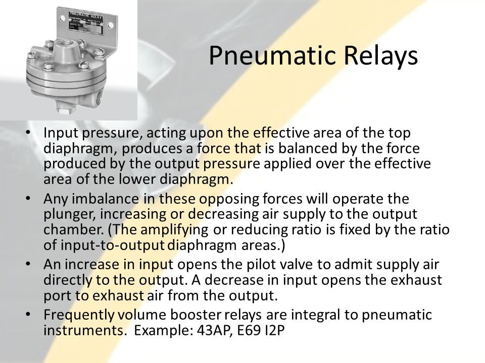 Pneumatic Relays