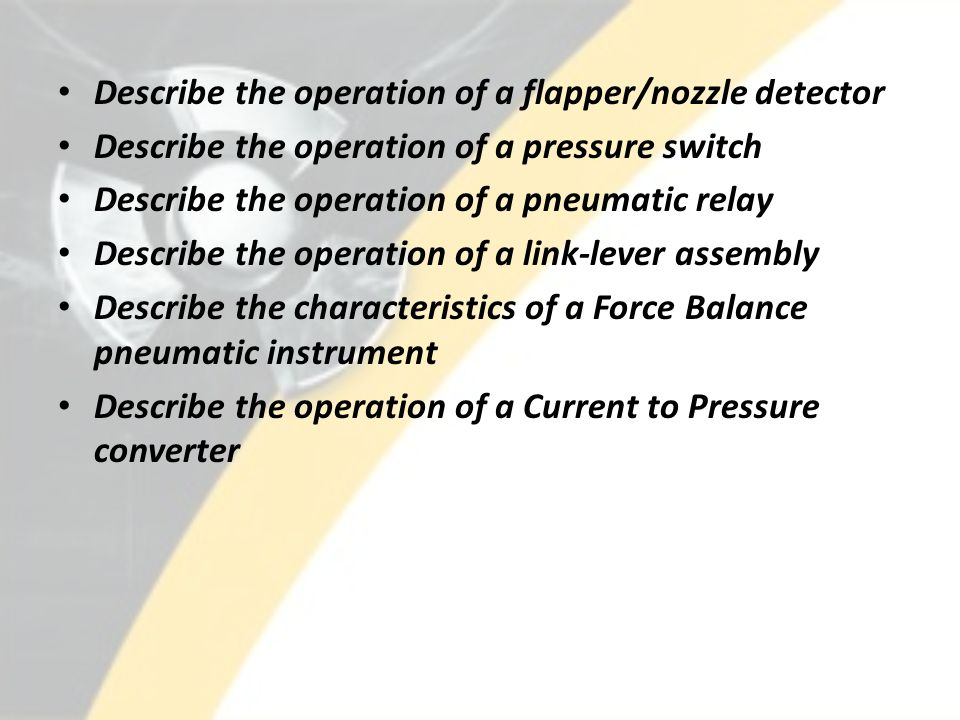 Describe the operation of a flapper/nozzle detector