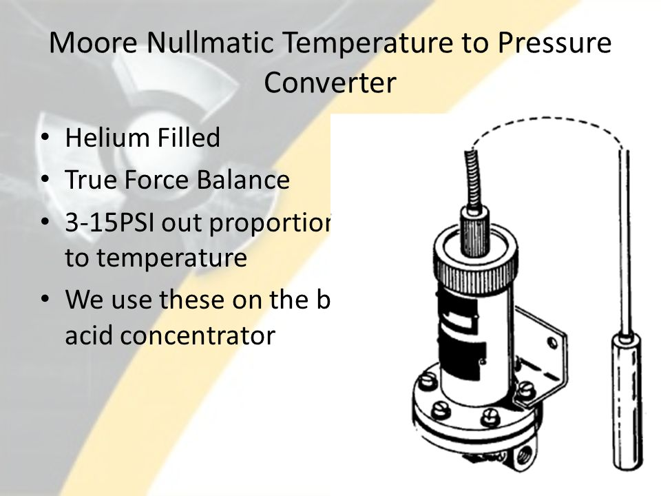 Moore Nullmatic Temperature to Pressure Converter