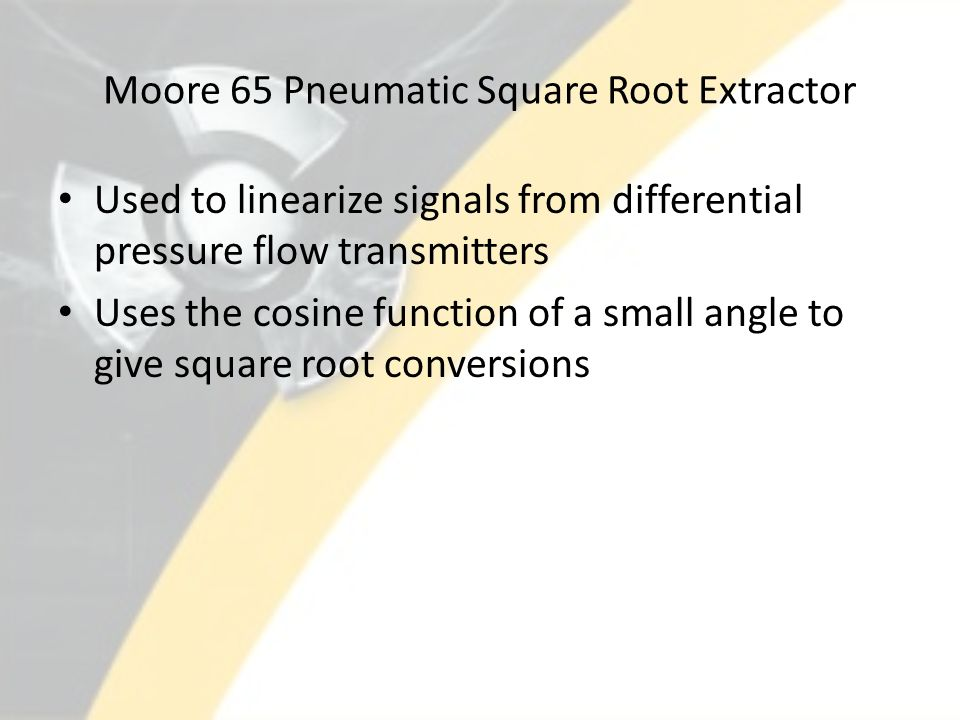 Moore 65 Pneumatic Square Root Extractor