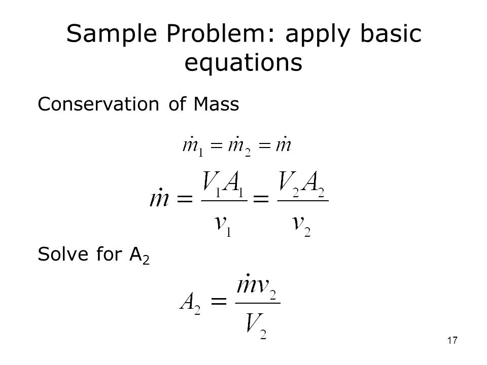 Sample Problem: apply basic equations