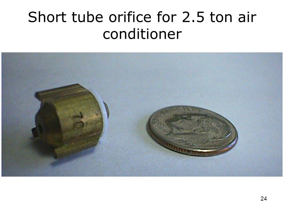 Short tube orifice for 2.5 ton air conditioner