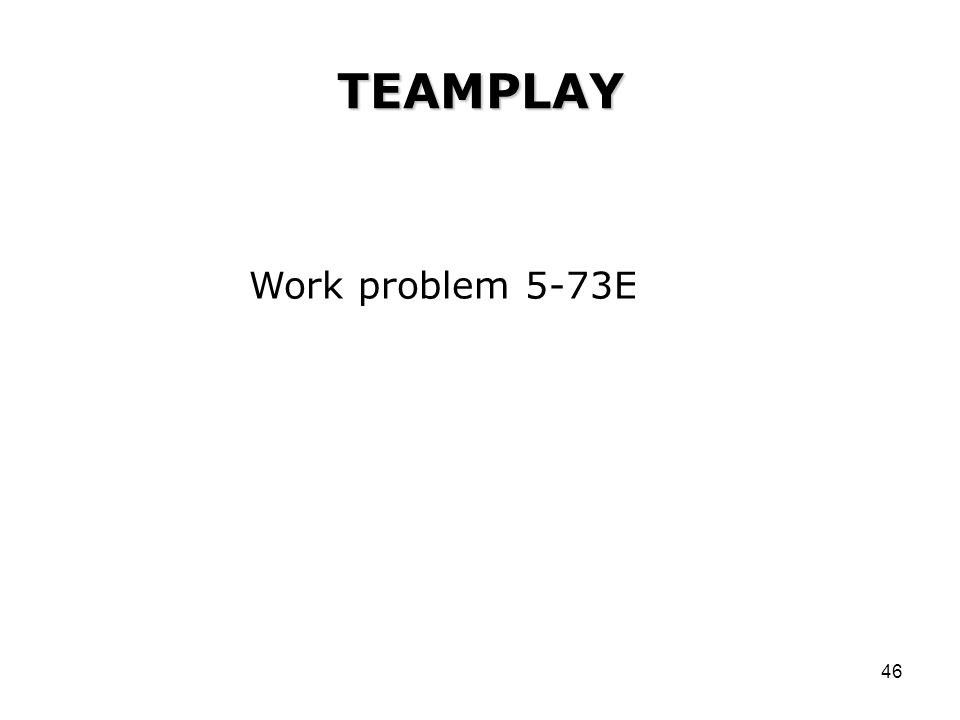 TEAMPLAY Work problem 5-73E