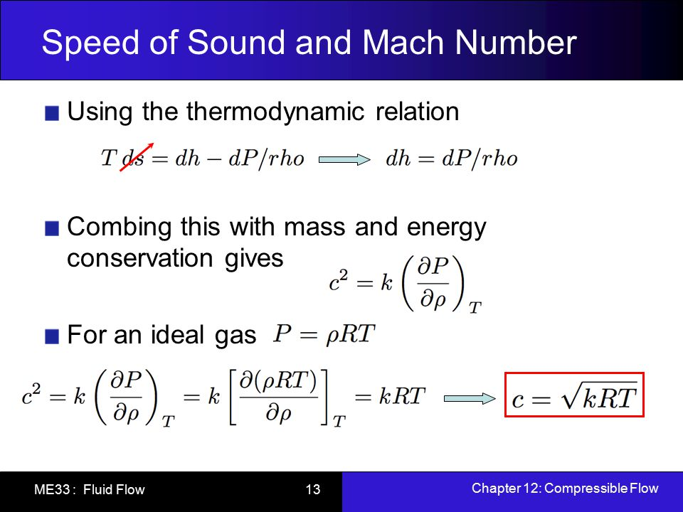 mathematical relationship between speed of sound and temperature