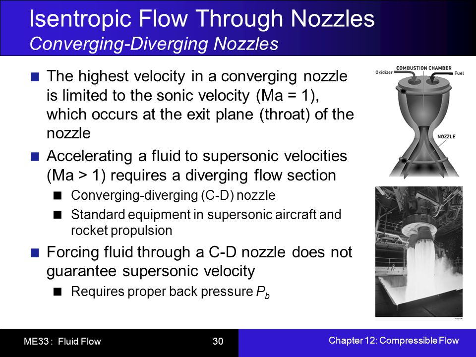 Isentropic Flow Through Nozzles Converging-Diverging Nozzles