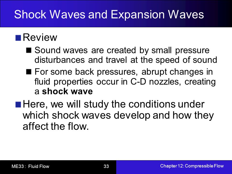 Shock Waves and Expansion Waves