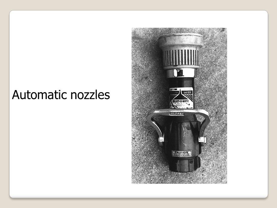 Automatic nozzles