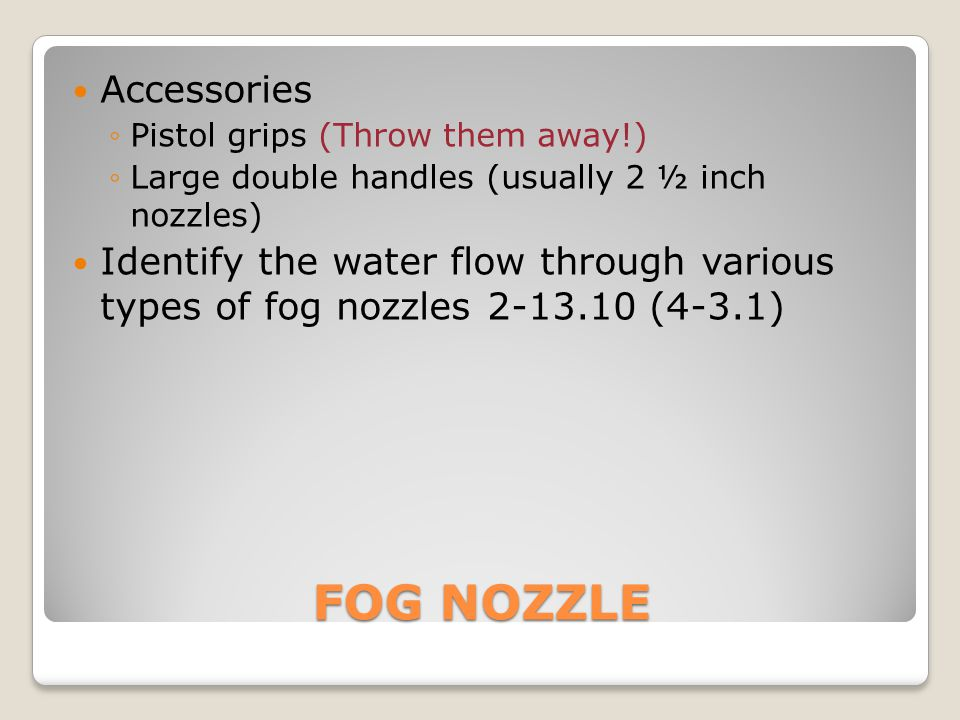 FOG NOZZLE Accessories