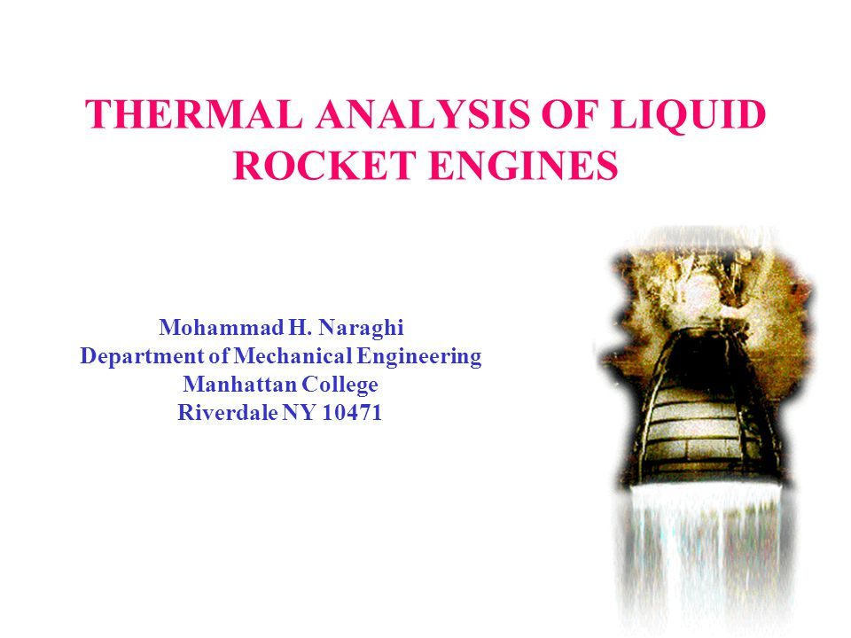 THERMAL ANALYSIS OF LIQUID ROCKET ENGINES