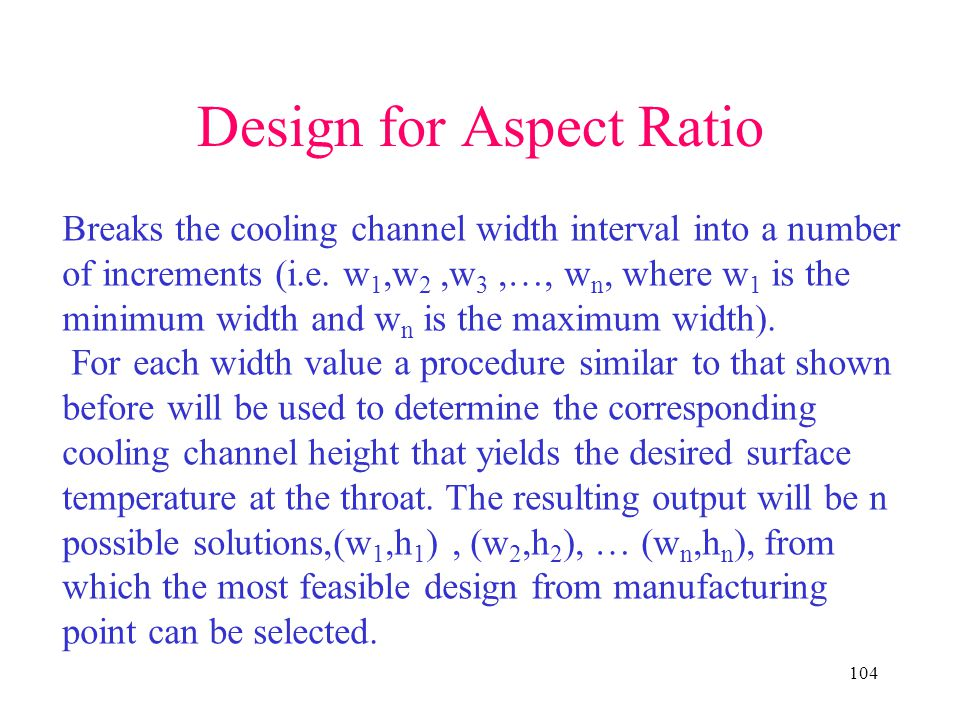 Design for Aspect Ratio