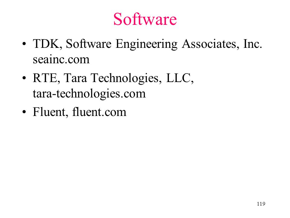Software TDK, Software Engineering Associates, Inc. seainc.com