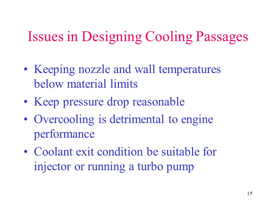 Issues in Designing Cooling Passages