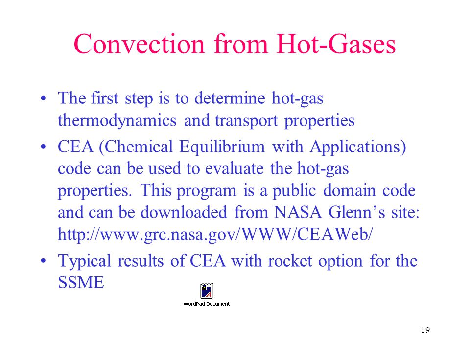 Convection from Hot-Gases