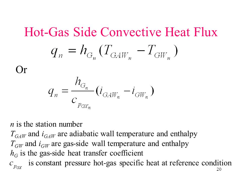 Hot-Gas Side Convective Heat Flux