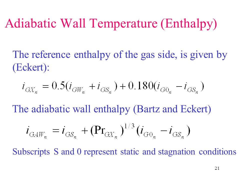 Adiabatic Wall Temperature (Enthalpy)