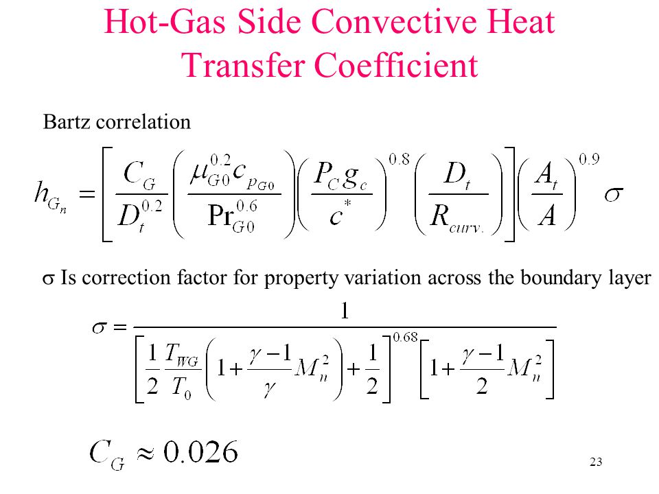 Hot-Gas Side Convective Heat Transfer Coefficient