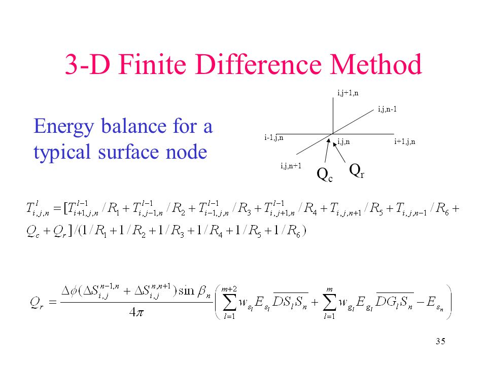 3-D Finite Difference Method