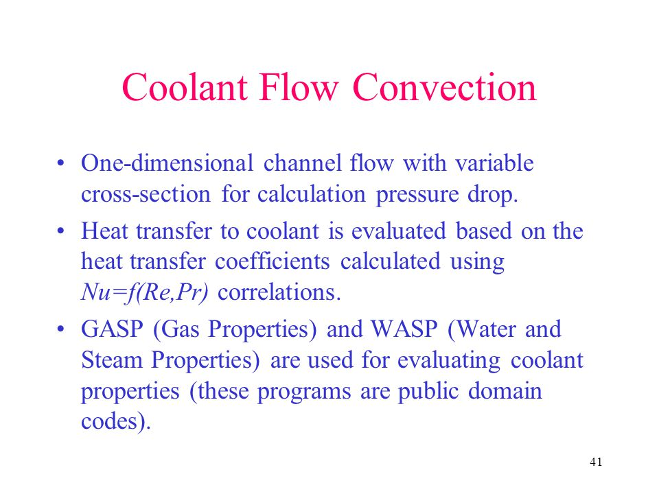 Coolant Flow Convection