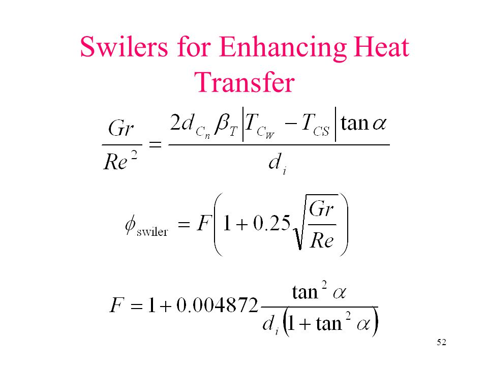 Swilers for Enhancing Heat Transfer