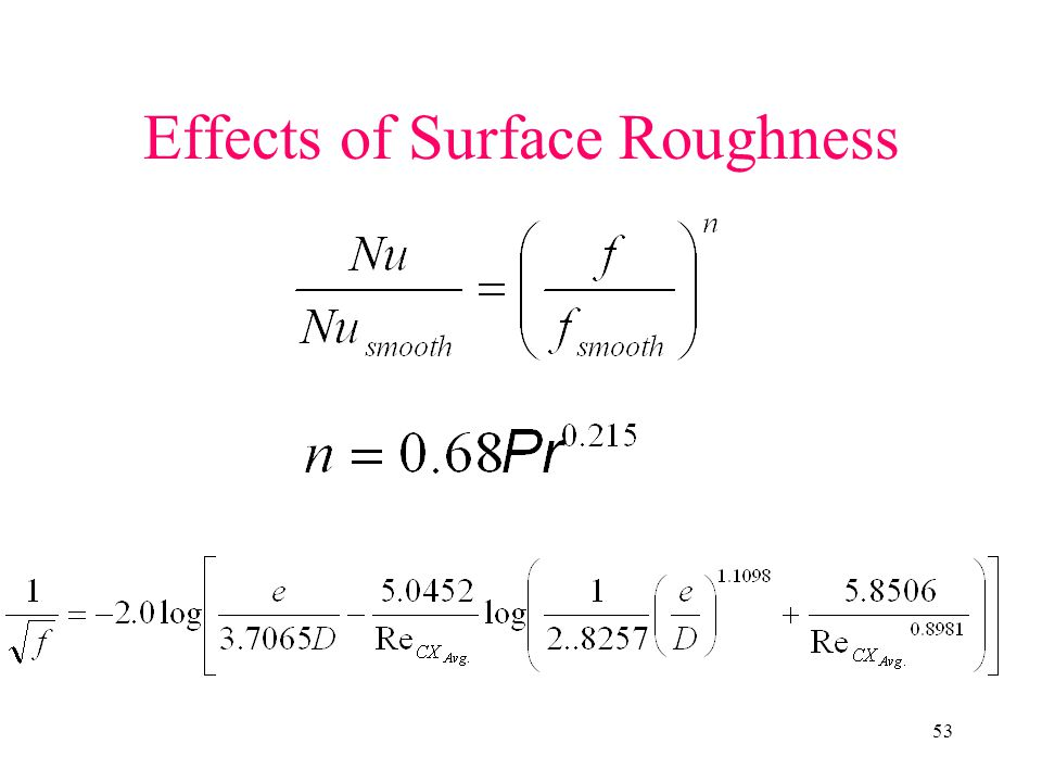 Effects of Surface Roughness
