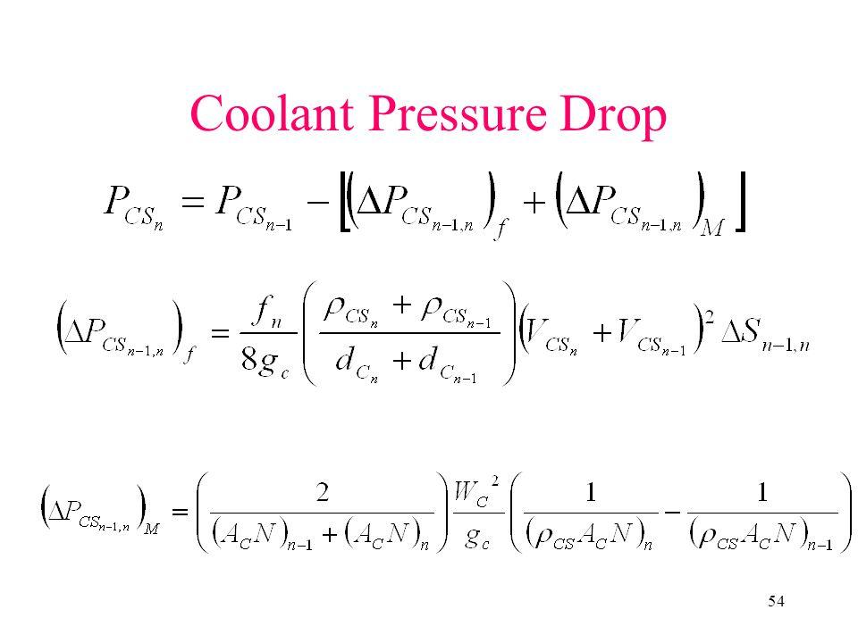 Coolant Pressure Drop