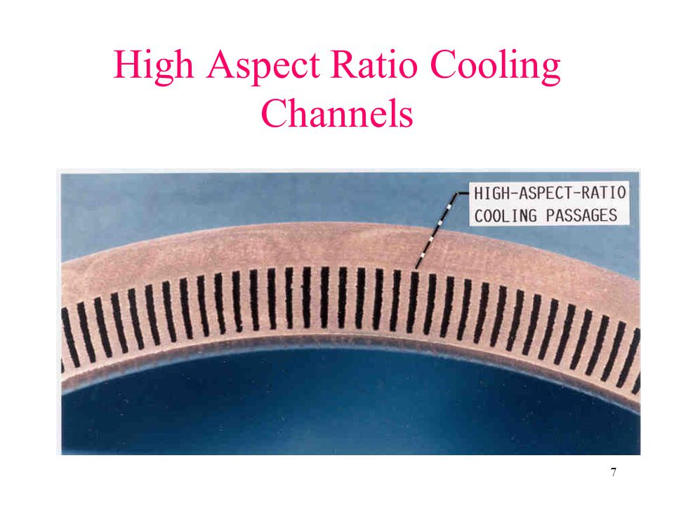 High Aspect Ratio Cooling Channels
