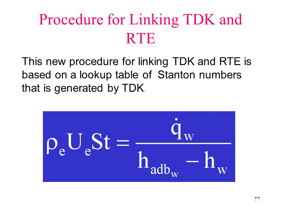Procedure for Linking TDK and RTE