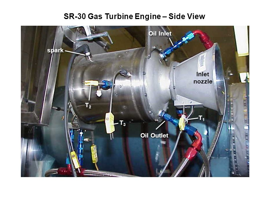 SR-30 Gas Turbine Engine – Side View