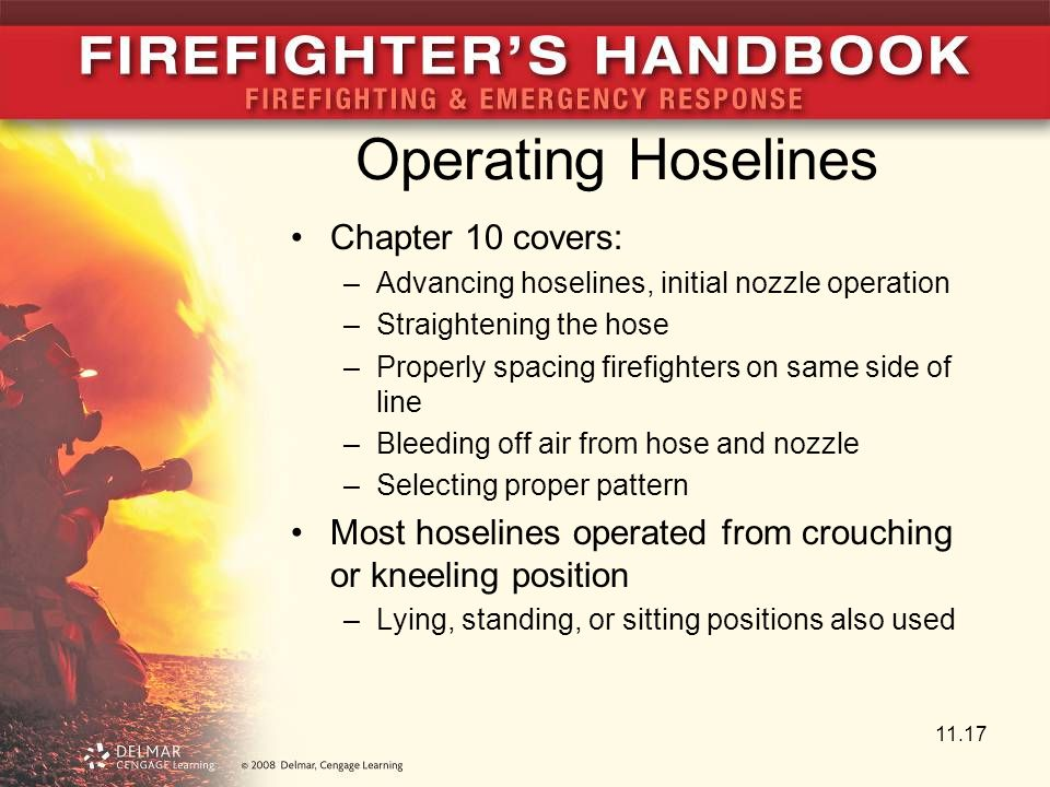 Operating Hoselines Chapter 10 covers: