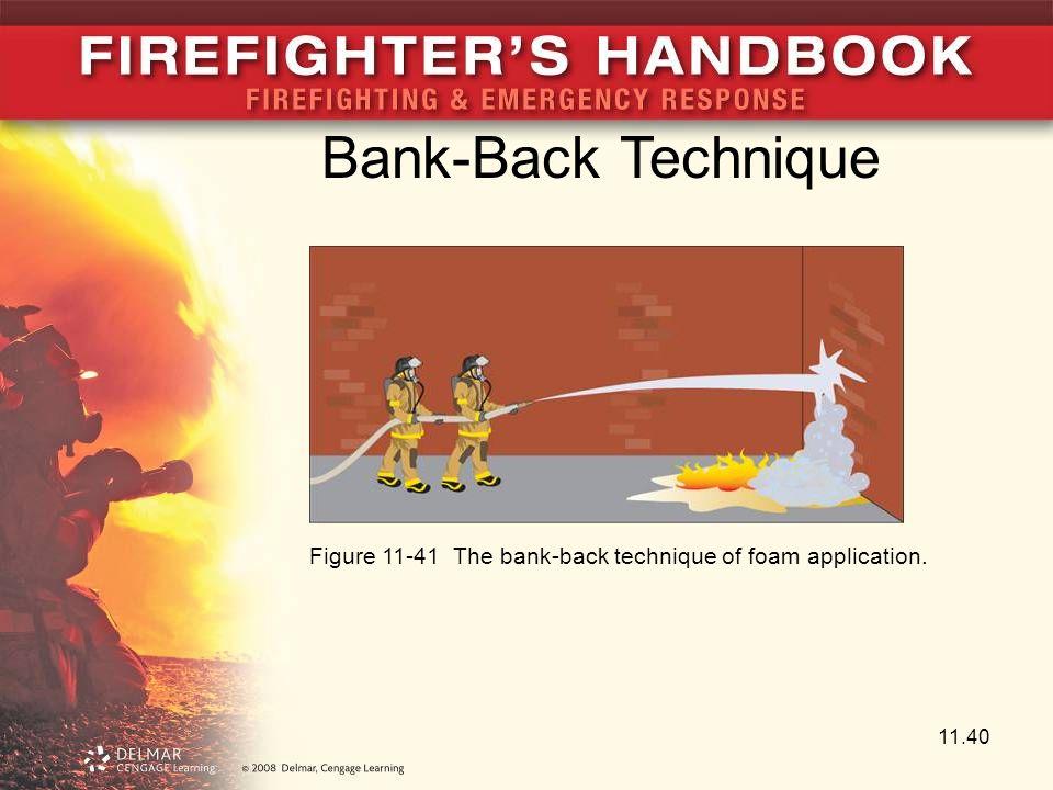 Bank-Back Technique Figure 11-41 The bank-back technique of foam application.