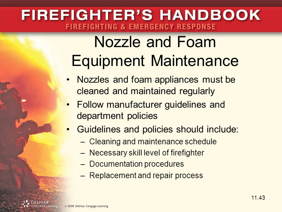 Nozzle and Foam Equipment Maintenance