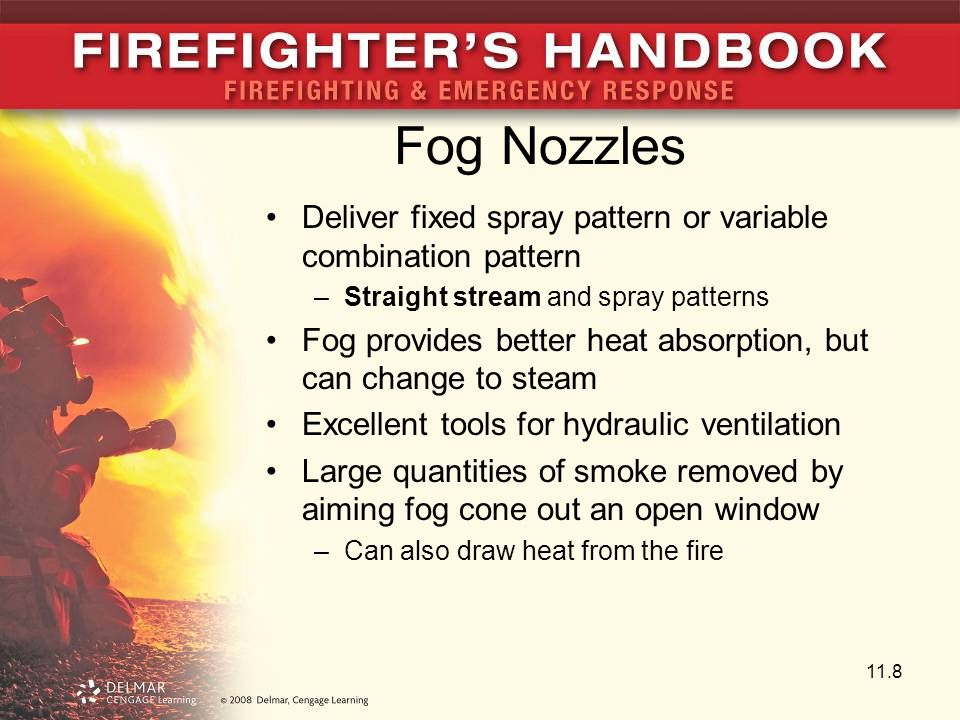 Fog Nozzles Deliver fixed spray pattern or variable combination pattern. Straight stream and spray patterns.