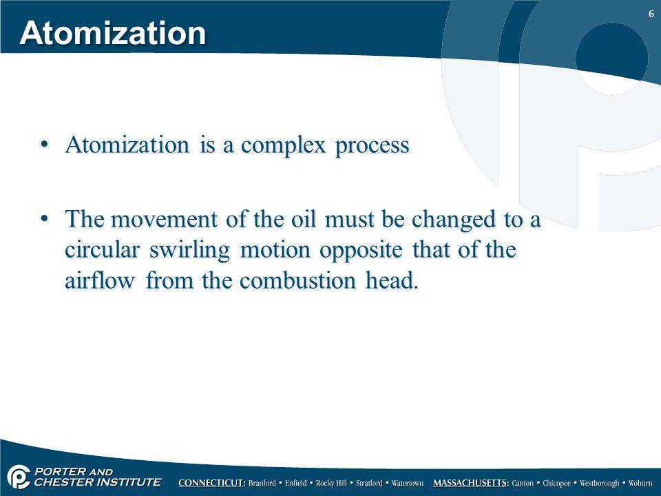 Atomization Atomization is a complex process