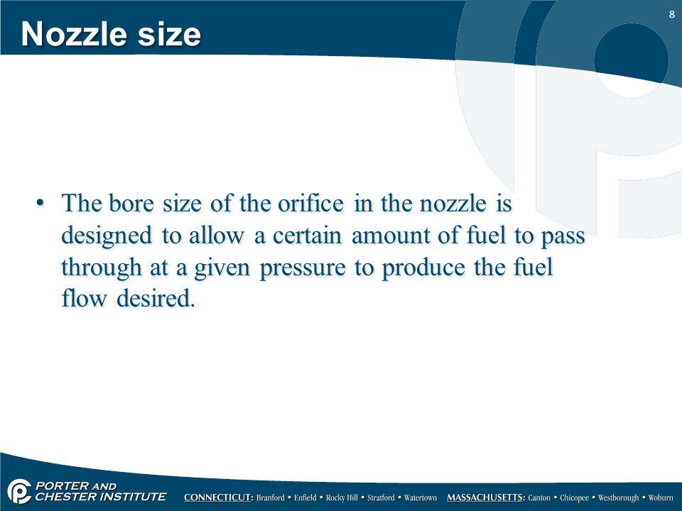 Nozzle size