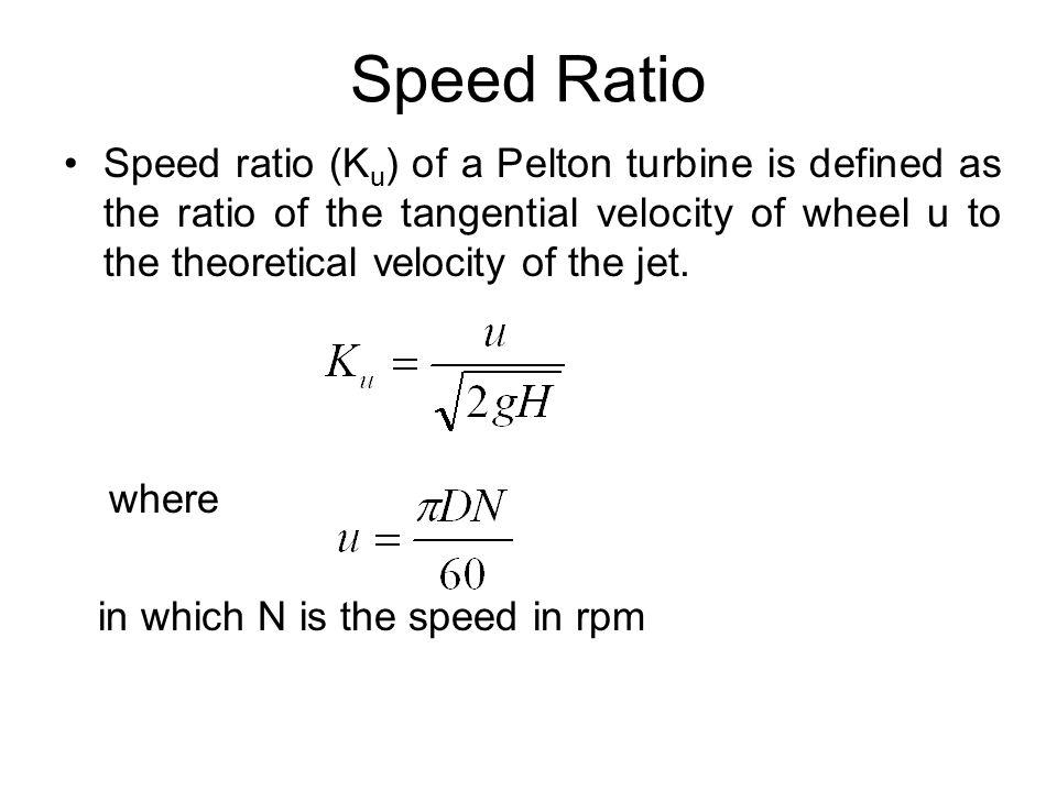 Speed Ratio