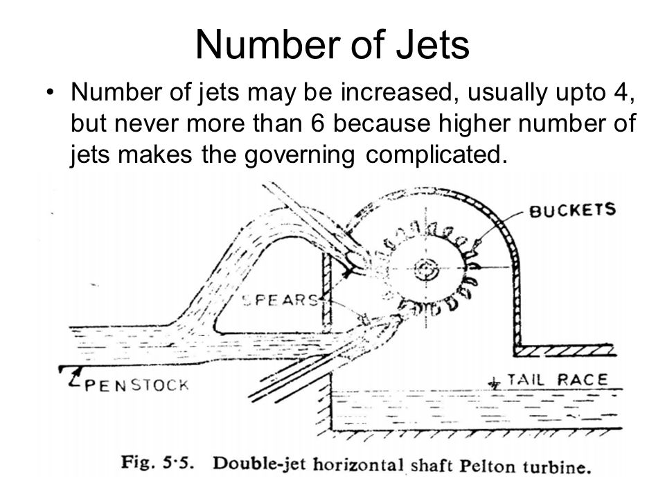 Number of Jets Number of jets may be increased, usually upto 4, but never more than 6 because higher number of jets makes the governing complicated.