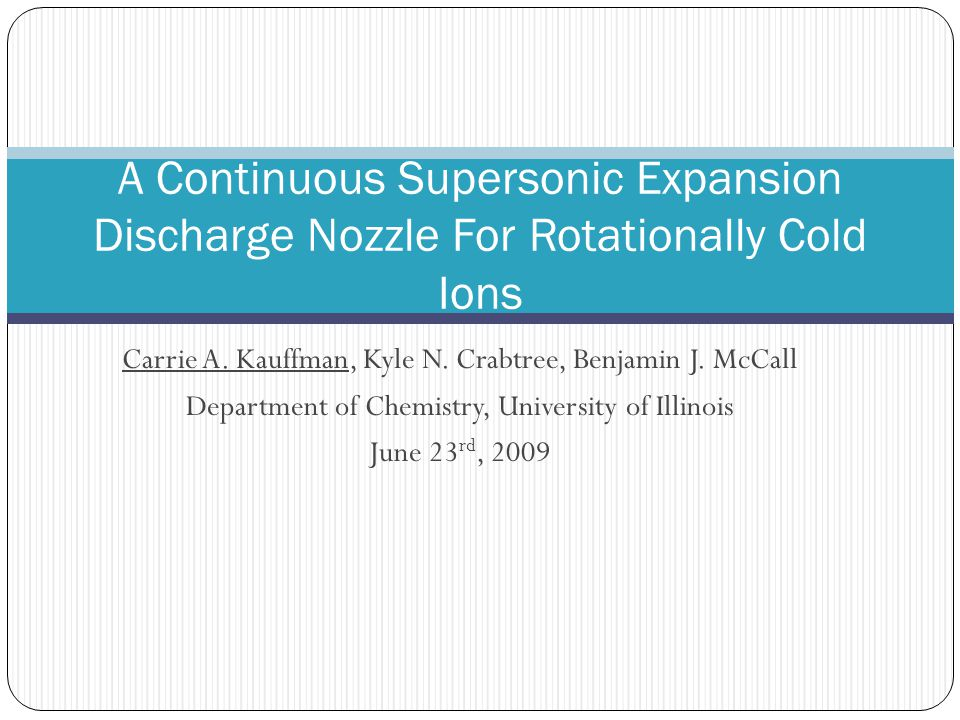 A Continuous Supersonic Expansion Discharge Nozzle For Rotationally Cold Ions