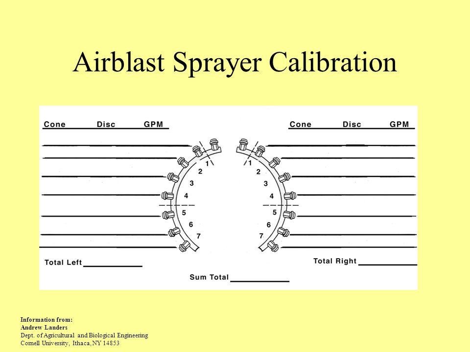 Airblast Sprayer Calibration
