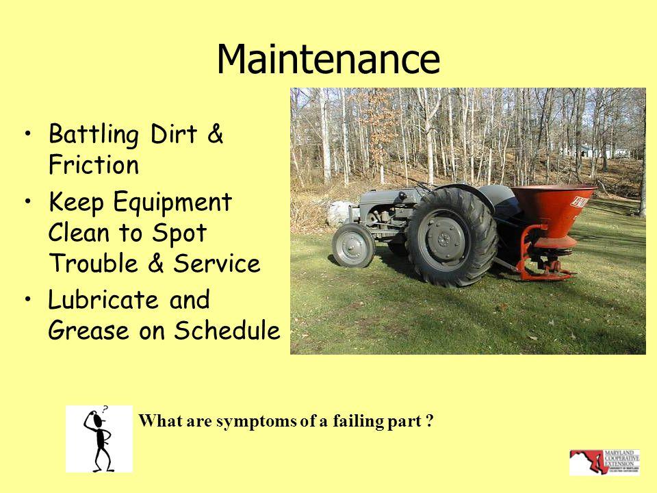 Maintenance Battling Dirt & Friction