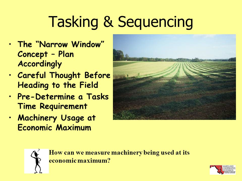 Tasking & Sequencing The Narrow Window Concept – Plan Accordingly