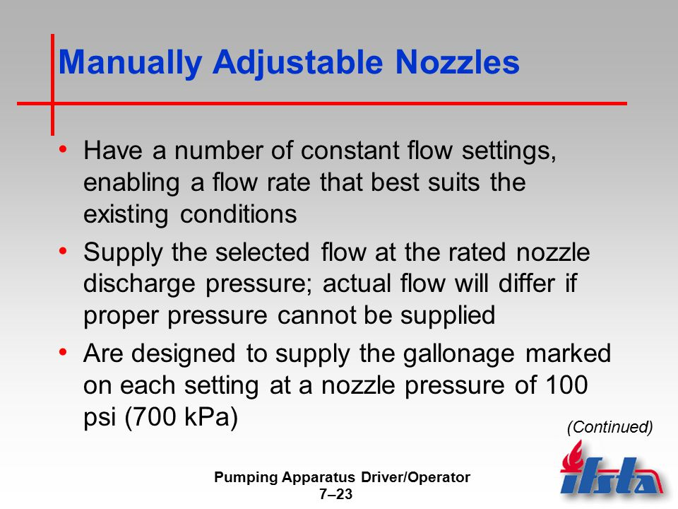 Manually Adjustable Nozzles