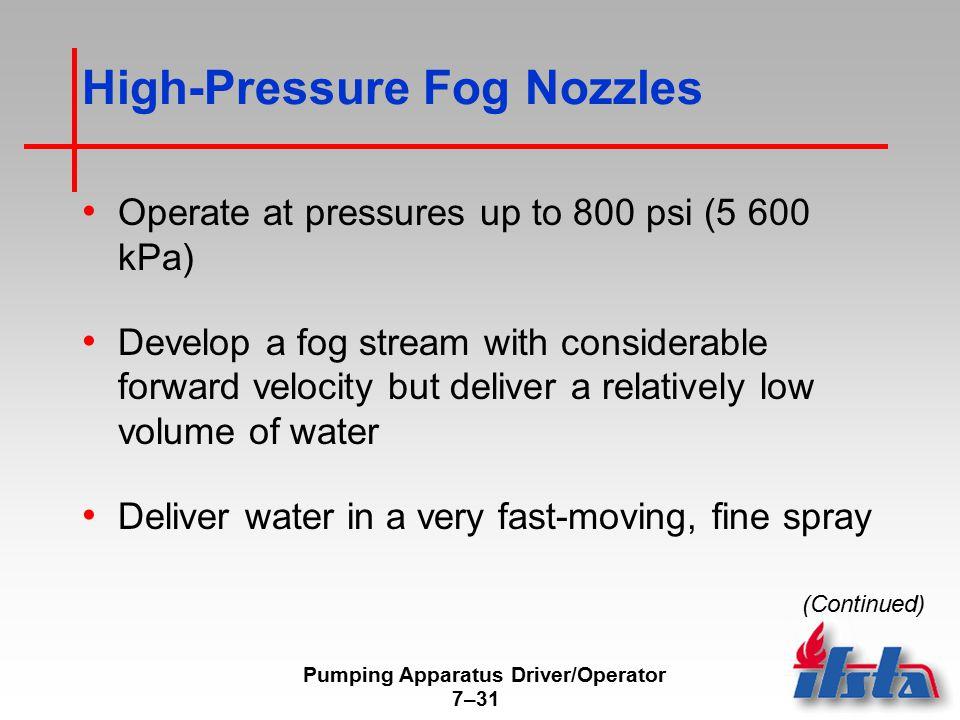 High-Pressure Fog Nozzles