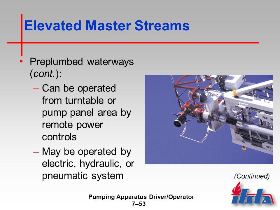 Elevated Master Streams
