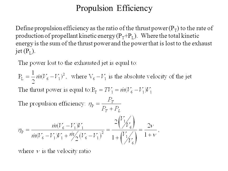 Propulsion Efficiency
