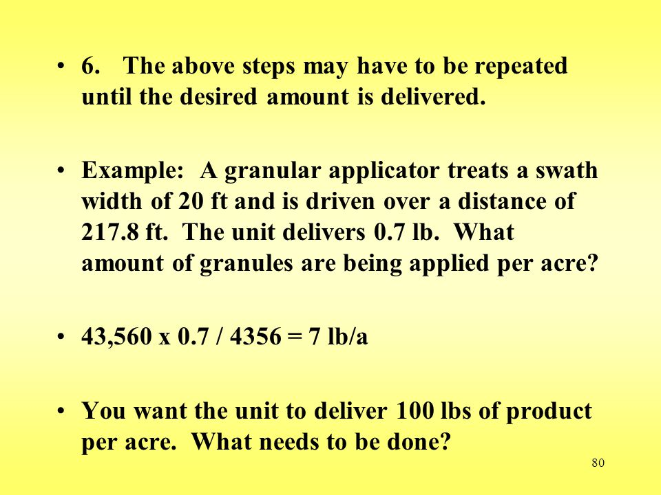 6. The above steps may have to be repeated until the desired amount is delivered.