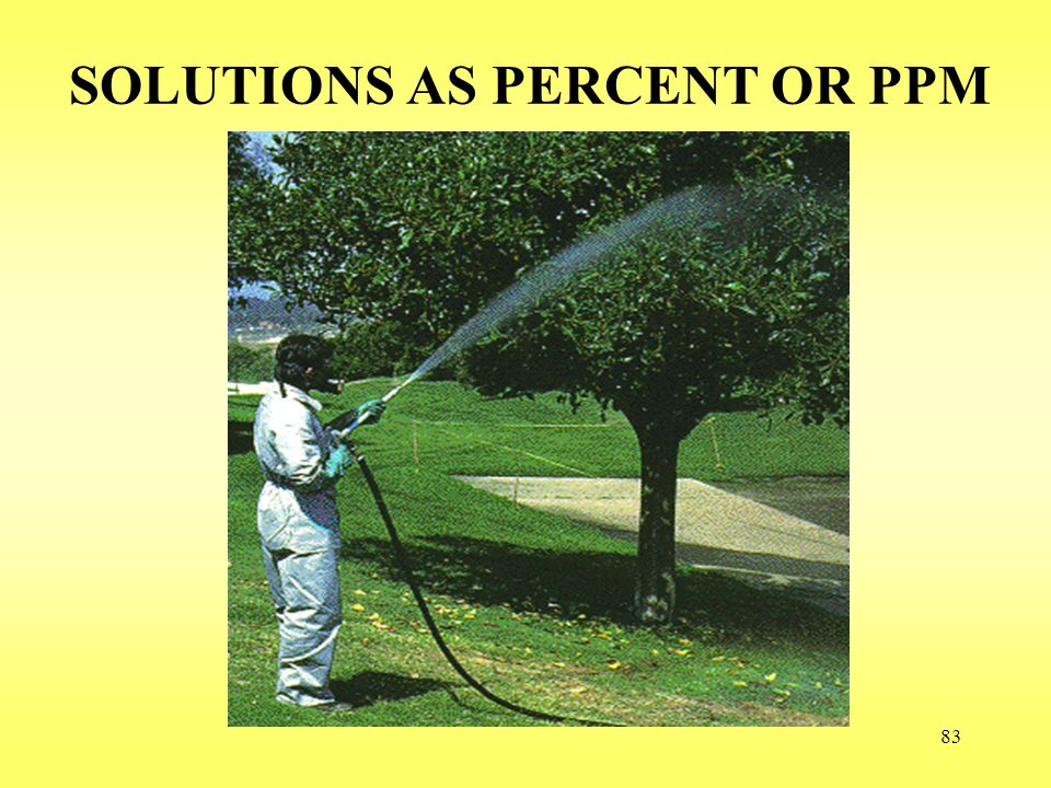 SOLUTIONS AS PERCENT OR PPM