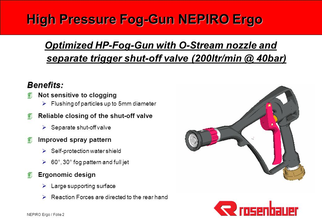 High Pressure Fog-Gun NEPIRO Ergo